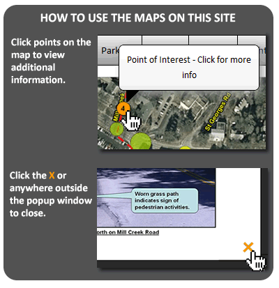 How to Use the Maps on this Site